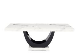 Raphael 200cm White Pedestal Marble Dining Table