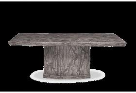 Carvelle 200cm Grey Pedestal Marble Dining Table