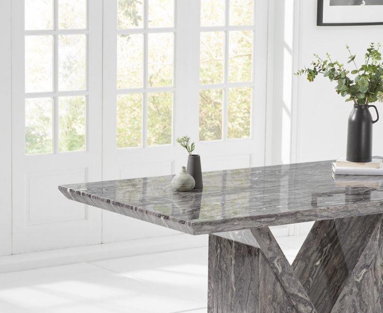 Mocha Grey Marble Dining Table