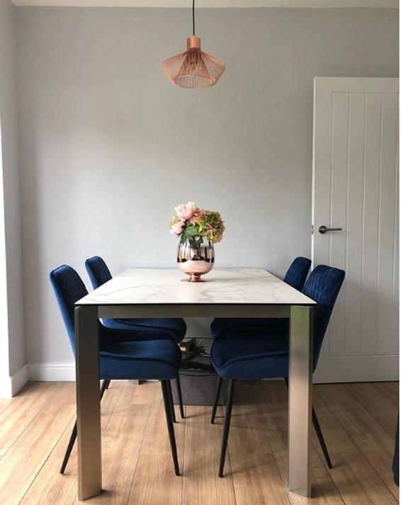 Antonella White Ceramic Dining Table